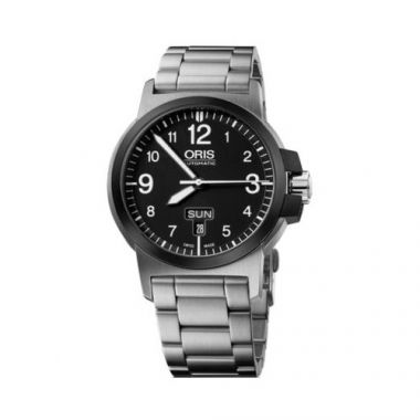 Oris BC3 Advanced Day Date Stainless Steel Mens Watch