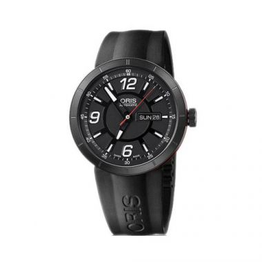 Oris TT1 Day Date Stainless Steel and Rubber Mens Watch