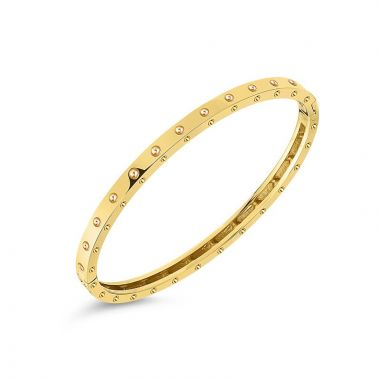 Roberto Coin 18k Yellow Gold Symphony Pois Moi Bangle Bracelet