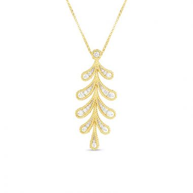 Roberto Coin 18K Yellow & White Gold Byzantine Barocco Necklace