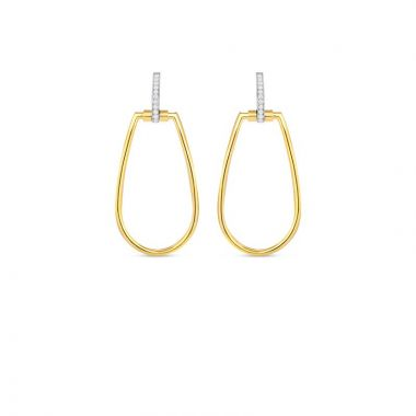 Roberto Coin 18K Yellow & White Gold Classica Parisienne Earrings
