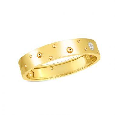 Roberto Coin  Pois Moi Luna 18k Two Tone Gold Diamond Bangle Bracelet