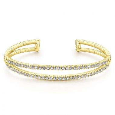 Gabriel & Co. 14k Yellow Gold Demure Diamond Bangle Bracelet