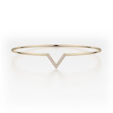 Michael M 14k Yellow Gold Diamond Bangle Bracelet