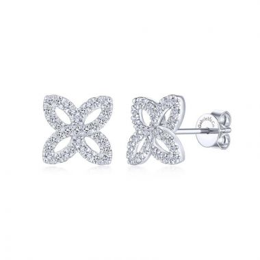 Gabriel & Co. 14k White Gold Lusso Diamond Stud Earrings