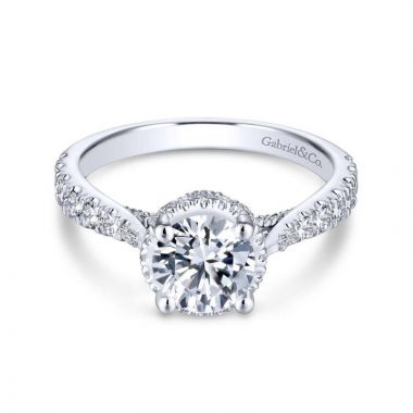 Gabriel & Co. 14k White Gold Infinity Straight Engagement Ring