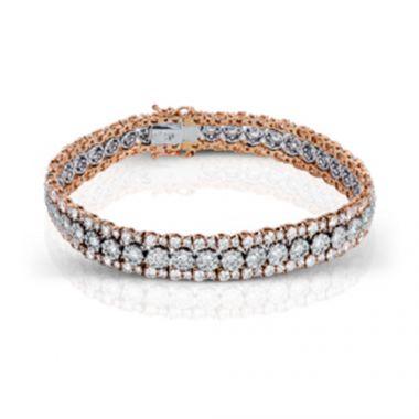 Simon G. Two-Tone 18k Gold and Diamond Bracelet