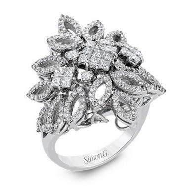 Simon G. 18k White Gold Nocturnal Sophistication Diamond Ring