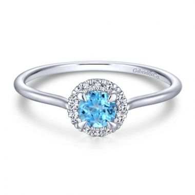 Gabriel & Co. 14k White Gold Lusso Color Diamond Ring