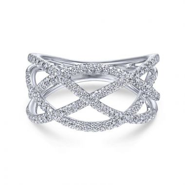 Gabriel & Co. 14k White Gold Lusso Diamond Ring