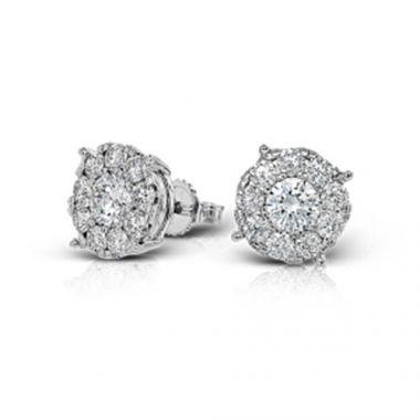 Simon G. 18k White Gold Diamond Stud Earrings