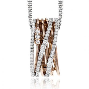Simon G. 18k Two Tone Gold Diamond Pendant