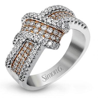 Simon G. 18k White Gold Diamond Right Hand Ring