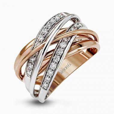 Simon G. 18k White Gold Diamond Ring
