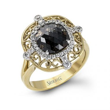 Simon G. 18k Two Tone Gold Diamond Ring