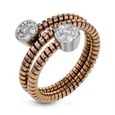Simon G. 18k Two Tone Gold Diamond Ring
