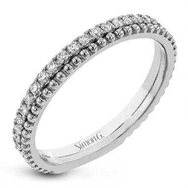 Simon G. 18k White Gold Sg Stackables Right Ring, Size 7