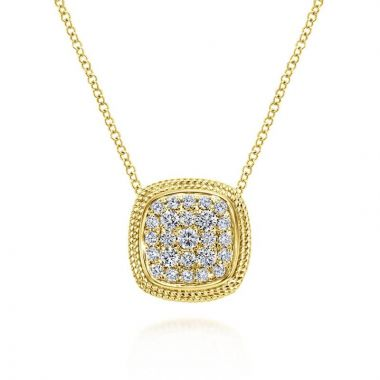 Gabriel & Co. 14k Yellow Gold Hampton Diamond Necklace