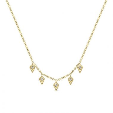 Gabriel & Co. 14k Yellow Gold Kaslique Diamond Necklace