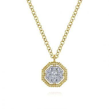 Gabriel & Co. 14k Yellow Gold Contemporary Diamond Necklace
