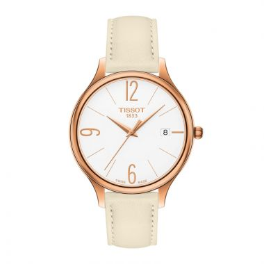 Tissot Stainless Steel T-Lady Women's Leather Watch