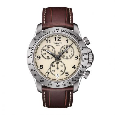 Tissot Stainless Steel T-Sport Leather Watch