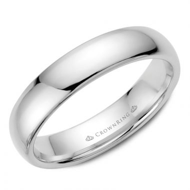 CrownRing 14k White Gold Traditional 5mm Wedding band