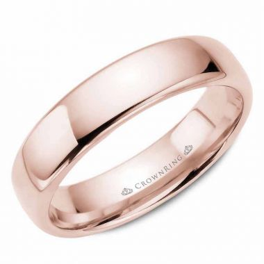 CrownRing 14k Rose Gold Traditional 5.5mm Wedding band