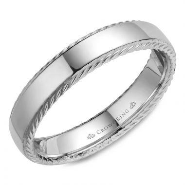 CrownRing 14k White Gold Rope 5mm Wedding band