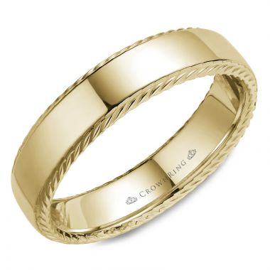 CrownRing 14k Yellow Gold Rope 6mm Wedding band