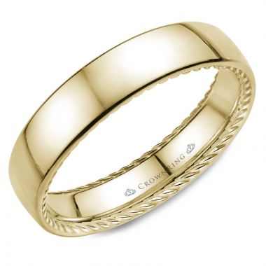 CrownRing 14k Yellow Gold Rope 5mm Wedding band