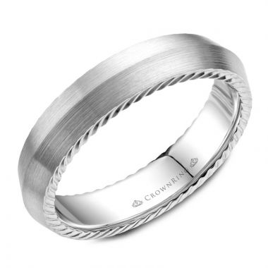 CrownRing 14k White Gold Rope 5mm Wedding band