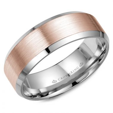 CrownRing 14k White Gold  Classic 8mm Wedding Band