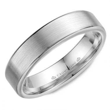 CrownRing 14k White Gold Classic 5.5mm Wedding Band