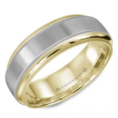 CrownRing 14k Yellow Gold Classic  7mm Wedding Band